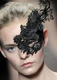re create with starched glue soaked lace trims etc masks