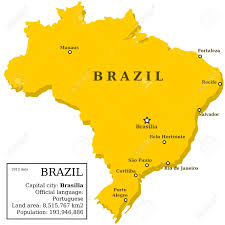 city map of brazil map of brazil country outline with information box and 10 largest