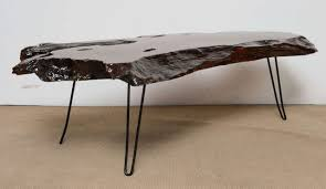 tree trunk coffee table mid century tree trunk resin coffee table at 1stdibs