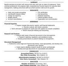 Resume Accounting Examples by Absolutely Smart Accounting Resume Sample 15 Unforgettable Staff