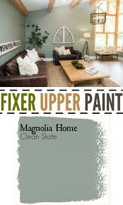 fixer upper living room paint color clean slate the weathered