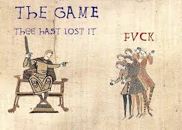 Bayeux Tapestry Meme - the game thee hast lost it medieval macros bayeux tapestry