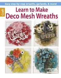 How To Make Halloween Wreath With Mesh by Learn To Make Deco Mesh Wreaths Leisurearts Com