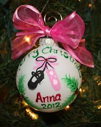 handpainted glass personalized ornament of a black tap shoe and