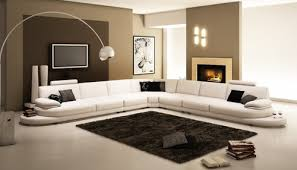 L Shape Sofa Set Designs Italian Leather Sectional Sofa Furniture In White Features L