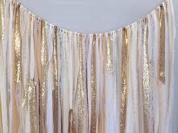 shades of gold sequin u0026 lace ribbon sparkle wedding backdrop
