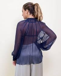 purple silk blouse voz bishop sleeve silk blouse fino méx us