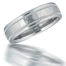 mens hammered wedding bands men s 6mm comfort fit platinum wedding band with milgrain and