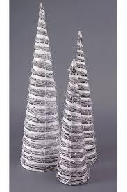 silver tree white rattan trees with white diagonal paper inlay