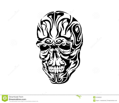 skull tattoo images free tribal skull tattoo design stock vector image 39396057
