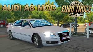 mod car game euro truck simulator 2 ets2 audi a8 car mod euro truck simulator 2 youtube