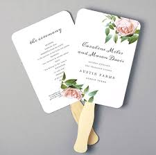 wedding fan programs diy printable fan program fan program template wedding fan