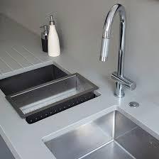 Modern Blueblack Kitchen Kitchen Tour Ideal Home - Kitchen sink area