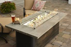 Outdoor Furniture With Fire Pit by Cedar Ridge 1242 Linear Fire Table Fire Pits Fire Pits