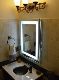 bathroom standing round lighted makeup mirror for vanity