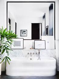 Bathroom White And Black Interior by Best 25 Black Framed Mirror Ideas On Pinterest Country Style