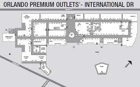 Shopping Mall Floor Plan Pdf Map Of Premium Outlet Mall On I Drive In Orlando