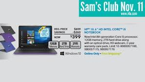 club one day only nov 11 laptop deal 399 hp hp 15 6 hd i5