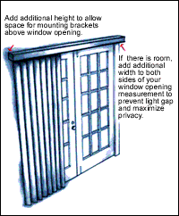 How To Shorten Vertical Blinds To Fit Window Blinds Com Measuring Guide For Quick And Easy Measurements