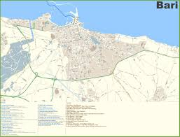 Map Of Cinque Terre Large Detailed Tourist Map Of Bari