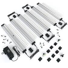 Kitchen Under Cabinet Lighting Options Eshine 6 Panels 12 Inch Led Under Cabinet Lighting With Ir Sensor