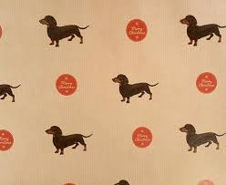 dachshund wrapping paper dachshund weiner dog sausage dog print christmas wrapping paper