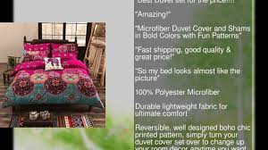 Patterns For Duvet Covers Vaulia Lightweight Microfiber Duvet Cover Set Bohemia Exotic