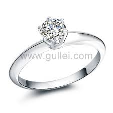 verlobungsringe silber diamant 0 65 carat korean style diamant platin überzogene silber