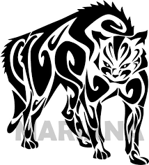 standing tribal cat tattoo design in 2017 real photo pictures