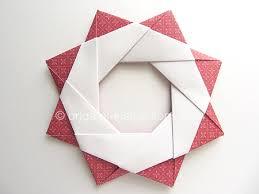 origami modular wreath folding