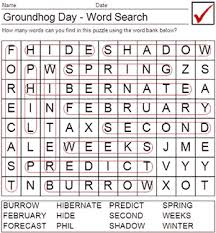 printable groundhog worksheets groundhog word answers