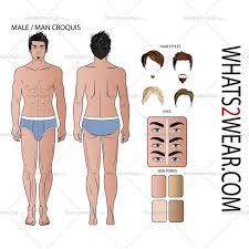 men u0027s croquis template u2013 illustrator stuff