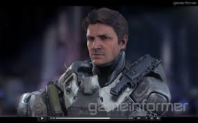 nathan fillion as spartan buck for the upcoming halo 5 firefly