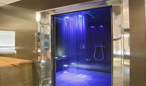 shower stunning bathroom with a large walkin shower stunning