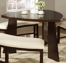 triangle high top table millennium emory 5 piece triangle pub table set with two 24 inch