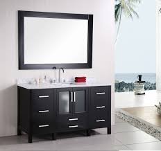 Small Bathroom Sink Vanity White Wash Basin On Black Wooden Bathroom Vanity Connected By