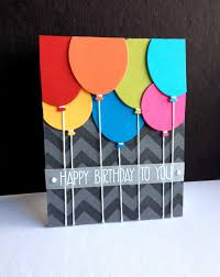 birthday cards for balloons i m in chevron stencil handmade birthday cards