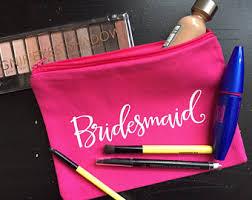 Bridal Party Makeup Bags Canvas Makeup Bag Etsy
