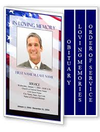 Downloadable Funeral Program Templates Military Memorial Service Program Template Pacq Co
