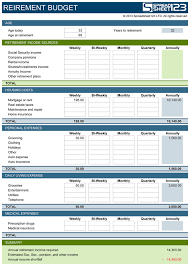 Excel Budget Template Free Retirement Budget Planner Free Template For Excel