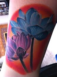 gray ink lotus tattoo