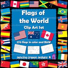 Dancing Flags World Flags Border Clip Art 18