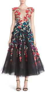 where to buy tulle marchesa plunging v neck 3d embellished tulle midi dress where