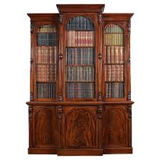 furniture home recomended open and inlaid mahogany bookcase tall