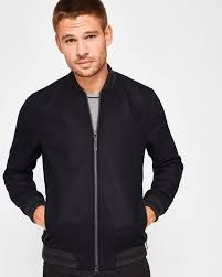 wool er jacket navy jackets coats ted baker