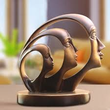 Decorative Sculptures For The Home Resin Abstract Craft Figurines Decorative Sculptures Human Model