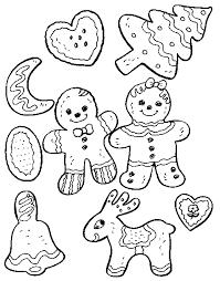 5 images christmas cookie printable christmas coloring