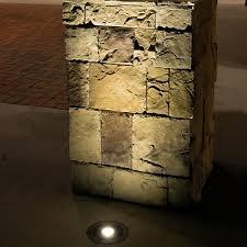 low voltage led column lights volt articulator cast brass integrated led in ground well light