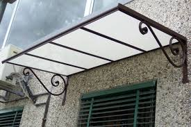 tettoie per porte esterne pensiline e tettoie in acciaio inox legno ferro policarbonato
