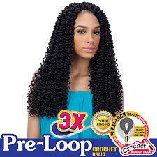 pre braided crochet hair freetress synthetic braid 3x pre loop crochet water wave 16 www
